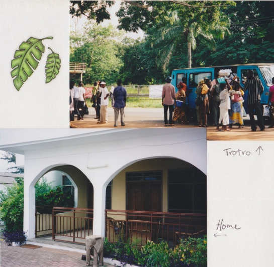 A page from my Ghana scrapbook.