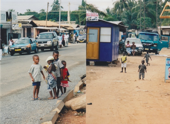 Ghanaian children playing in the street. (Photo credit: Ursula Crawford).