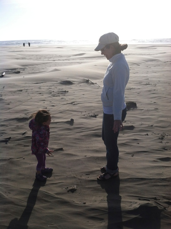 At two years old, my daughter explores the beach. Photo credit: Spencer Crawford