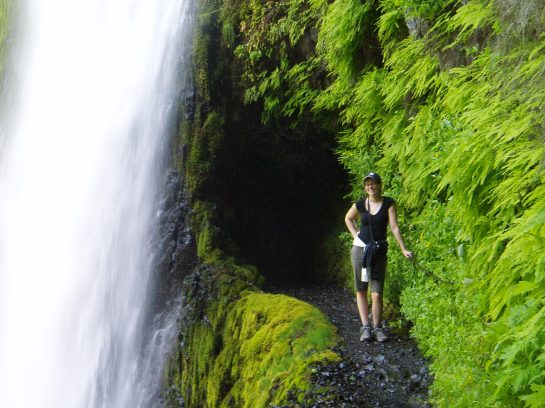 At Tunnel Falls in the Columbia River Gorge.