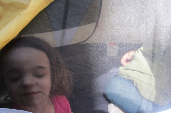 Tent silly times.