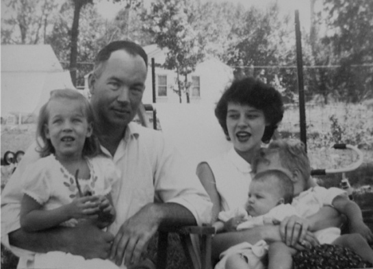 Papa Jack and Mama Anne with Aunt Cathy, Uncle Joe and my mom (the baby).